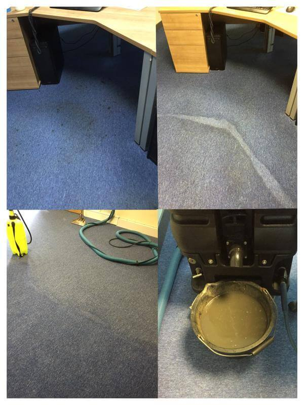 ekstrakcyjne pranie wykładzin biurowych