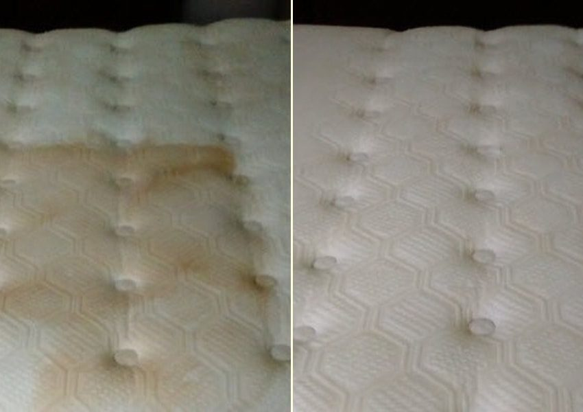 plamy z moczu na materacu